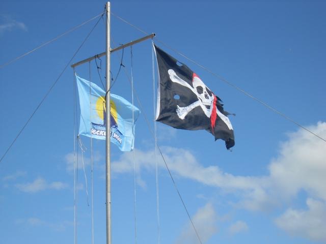 Весёлый Роджер и флаг Регаты Обское море - 2011